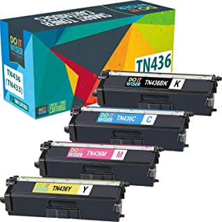 Do it Wiser Compatible Toner Cartridge Replacement for TN436 TN436BK TN 436 TN433 Brother MFC-L8900CDW HL-L8360CDW L8260CDW L8360CDWT MFC-L8610CDW L9750CDW Extra High Yield (6,500 Pages) 4-Pack