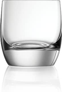 Lucaris Set of 4 Shanghai Soul Double Rock Crystal Glass 11.5 Ounce Tumblers - Dishwasher Safe Crystal - Durable & Scratch Resistant Titanium Crystal - Shanghai Soul