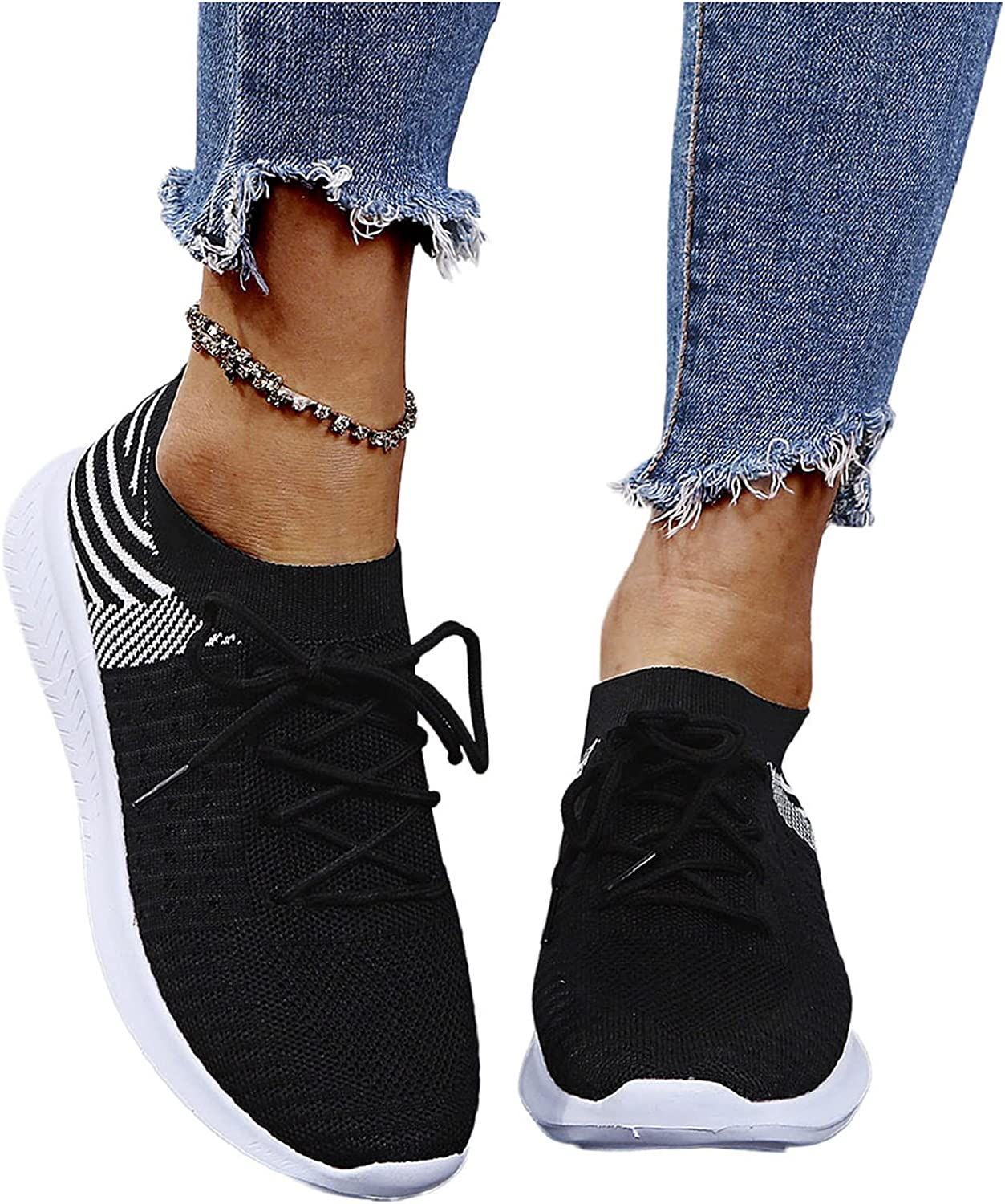 Women lowest price Walking Shoes Lightweight Lace Com List price Casual Running Up