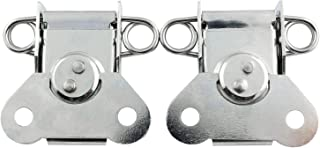 JCBIZ 2pcs Cold Rolled Steel Butterfly Case Lock Toggle Latch Silver Color with Keeper Plate