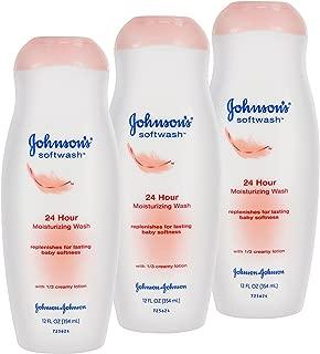 Johnson's 24 Hr Moisturizing Wash Soft Body Lotion 12 fl oz (3 pack)