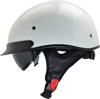 Vega Helmets Unisex-Adult Half Helmet (Pearl White, Medium)