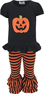 Unique Baby Baby-Girls 2 Piece Halloween Pumpkin Outfit