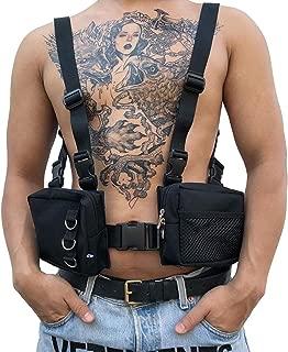 Chest Front Bag Hip Hop Hidden Underarm Strap Waist Packs Bag Adjustable Tactical Shoulder Chest Rig Bag Adjustable Sport Backpack for Men Women