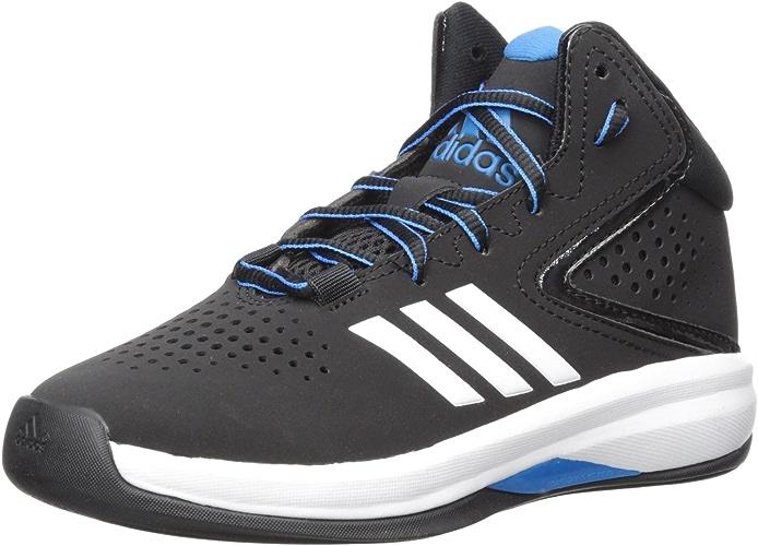 Adidas Unisex-Kids Cross 'Em up 2016 K Wide Basketball chaussures, Core noir, Bright bleu,blanc, 2 M US Little Kid
