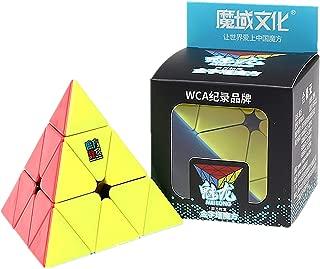 LiangCuber Moyu MoFang JiaoShi Meilong Pyramid stickerless Magic Cube Cubing Classroom Meilong 3x3 Pyramid Speed Cube Puzzle