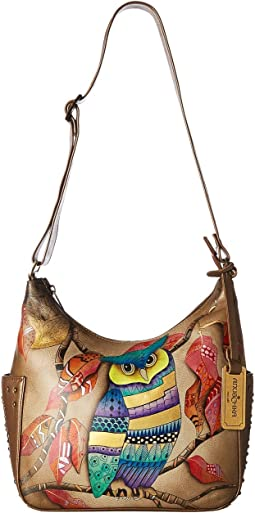 Anuschka Handbags - 433 Classic Hobo With Studded Side Pockets