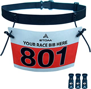 ETOAA Race Number Belt for Triathlon and Running Bibs