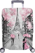 InterestPrint European France Paris Eiffel Tower Travel Luggage Cover Suitcase Protector Fits 18