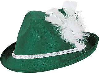Beistle 60208 12-Pack Forest Green Vel-Felt Alpine Hats