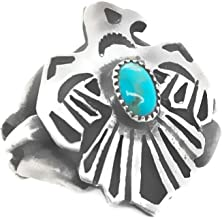 Nickel Free Genuine Multi-Stone Ring Southwest Jewelry for Men Size 10 Native American Handmade Sterling Silver Artist Signed