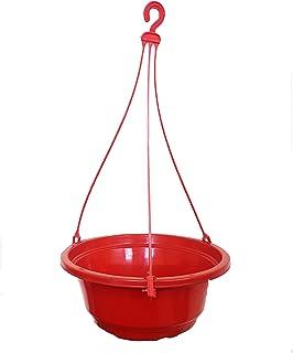 Unique Plastic Hanging Basket Set (9.5 inch, Brown)