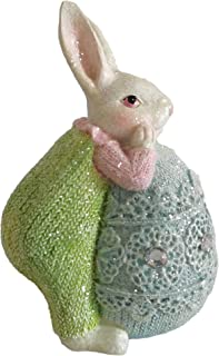 LEFOUND Easter Rabbit Statues Spring Bunny Decoration Clearance - Easter Egg Gifts,Green