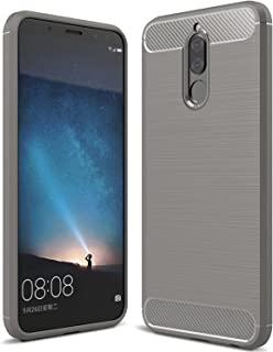 Huawei Mate 10 Lite Case & Huawei Nova 2i Case, KuGi [Shock/Scratch Absorption Protection] SS Durable Anti-Slip Flexible Rubber Soft TPU Bumper Case for Huawei Mate 10 lite Phone (Gray)