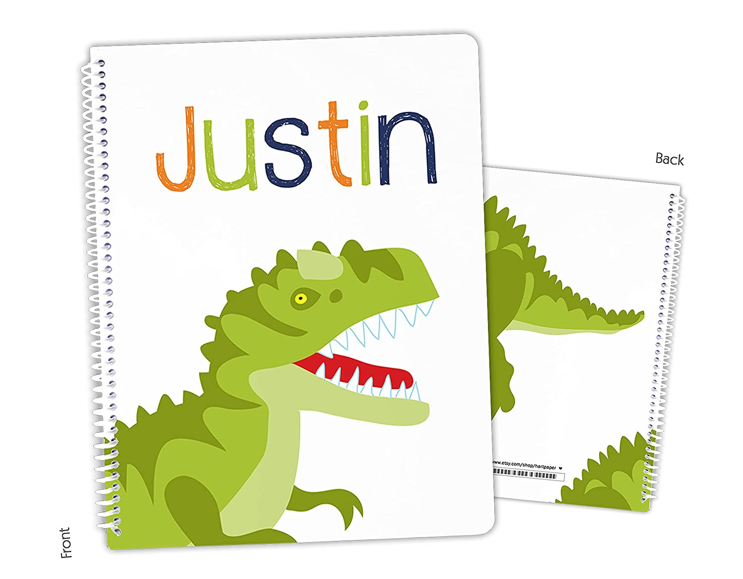 Personalized Free shipping Dinosaur Dino T-Rex Time sale Bound Spiral Sketchboo Notebook