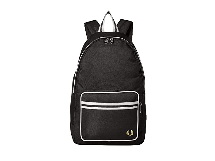 Fred Perry Twin Tipped Backpack (Black) Backpack Bags