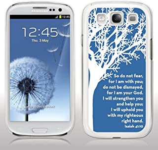 Samsung Galaxy S3 Case - Christian Theme - Isaiah 41:10 - White Protective Hard Case