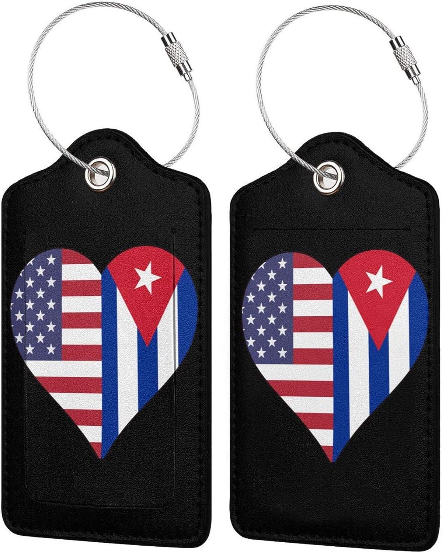 Half Cuba Flag Nippon regular agency USA Love Heart PU 100% quality warranty Baggage Leather L Bag
