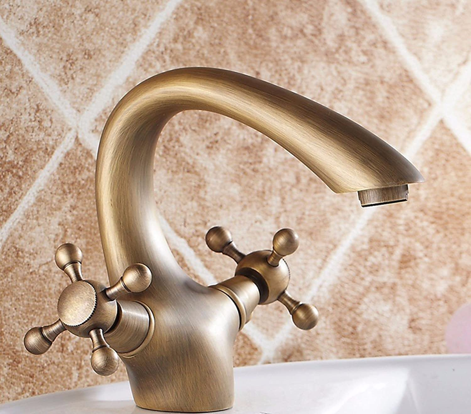 Hlluya Professional Sink Mixer Tap Kitchen Faucet Brass, gold plated, Single, Double, hot and cold, the basin and sink faucet 4