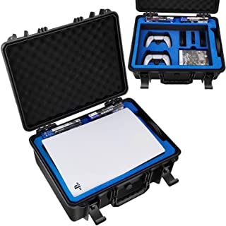 Premium Carrying Case for PS5-Travel Case Fits PlayStation 5 Console, 2 Controllers, 8 Games, Cables-PS5 Case with Customi...
