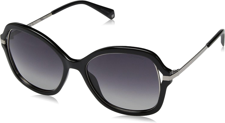 Polaroid Sunglasses Women's Pld4068s Polarized Square Sunglasses BLACK 55 mm