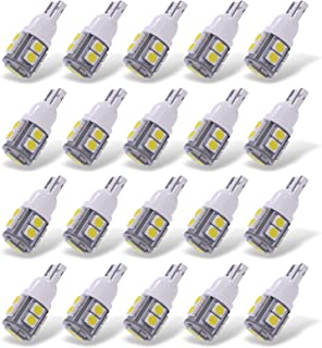YITAMOTOR White T10 168 194 Wedge LED Bulb, W5W 2825 158 192 175 162 Replacement LED Interior Lights Bulb for Trucks Car License Plate Map Dome Trunk Light, 10-SMD, 12v, 20-Pack