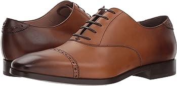 Salvatore Ferragamo Boston Cap Toe Leather Oxford Shoes (Ambre)