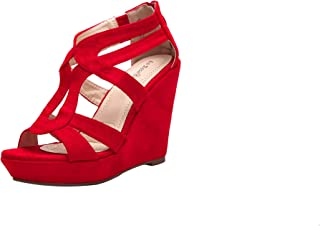 Larosa Rose L-Lisa04 Zippered Strappy Open Toe Platform Wedges Heeled Sandals Shoes for Women