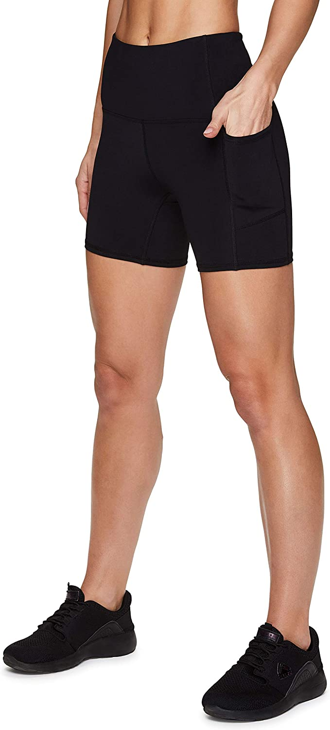 RBX Active Biker Shorts for Women, Yoga Shorts Squat Proof High Waisted Spandex Shorts with Pockets