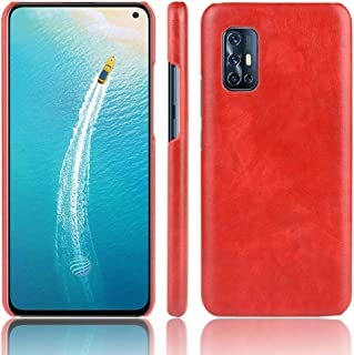 JINJIN for For Vivo V19 (Indonesia) Shockproof Litchi Texture PC + PU Case(Black) Cover (Color : Red)