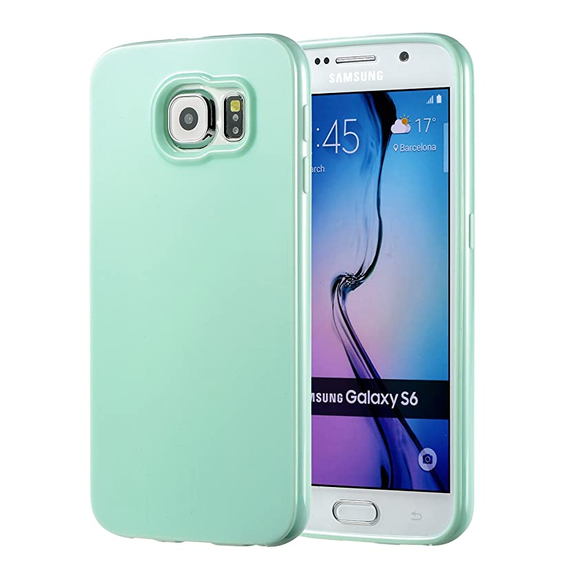 Galaxy S6 Mint Case, technext020 Galaxy S6 Case Silicone Protective Back Cover Slim Fit Samsung Galaxy S6 Bumper