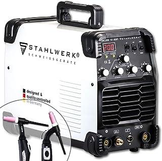 STAHLWERK AC/DC WIG 200 ST IGBT - Equipo de soldadura combinado con 200 amperios WIG & MMA, soldadura de aluminio, 7 años ...