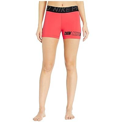 Nike Pro Sport Distort Shorts 3 (Ember Glow/Black/Anthracite/Black) Women
