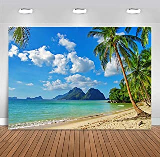 Fanghui Beach Backdrop Ocean Photography Background for Wedding Party Decoration Beach Photo Studio Props Backdrop Vinyl 7x5ft