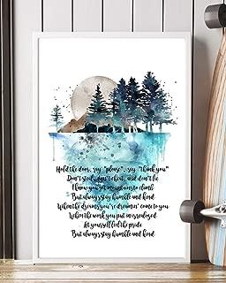 humble and kind lyrics poster