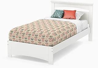 South Shore Libra Bed & Headboard Set, Twin 39-Inch, Pure White
