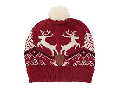 Dale of Norway Christmas Hat (4-8 Years) (Raspberry/Off-White/Navy) Beanies