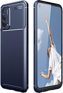 Soosos Case for OPPO A93(5G) Case Carbon Fiber Ultra thin TPU Soft Silicone Shockproof Anti-fall Cell phone Protective cov...