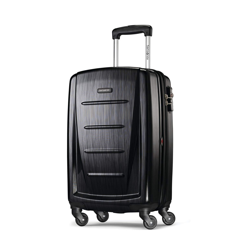サムソナイトサムソナイトウィンフィールド2シリーズハードシェル20インチスーツケース無煙炭色