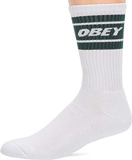 OBEY CLOTHING Men's COOPER II SOCKS, White, OSFA