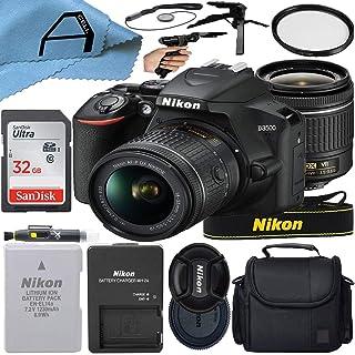 Nikon D3500 デジタル一眼レフカメラ 24.2MPセンサー NIKKOR 18-55mm f/3.5-5.6G VRレンズ SanDisk 32GB メモリーカード ケース 三脚 Aセルアクセサリーバンドル (ブラック)