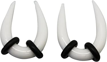White Glass Horseshoe Taper (3.5 mm, 5/32 Inch) - 2 Piece