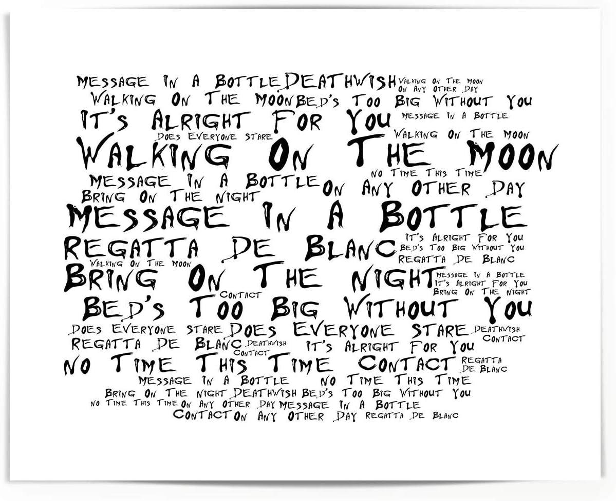 Regatta De Blanc Album Lyrics Print The Police Poster Framed Original Art