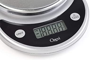 Ozeri ZK14-S Pronto Digital Multifunction Kitchen and Food Scale, Elegant Black 8.25