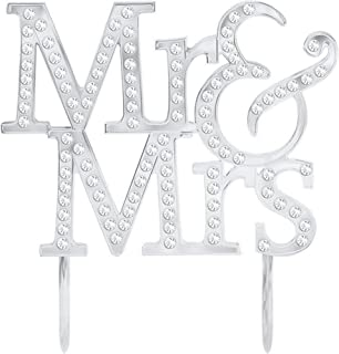 """Amscan """"Mr & Mrs"""" with Gems Cake Topper"""