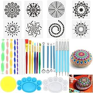 Mandala Dotting Tools, Angela&Alex Mandala Painting Tool Kits Brushes Paint Tray for..