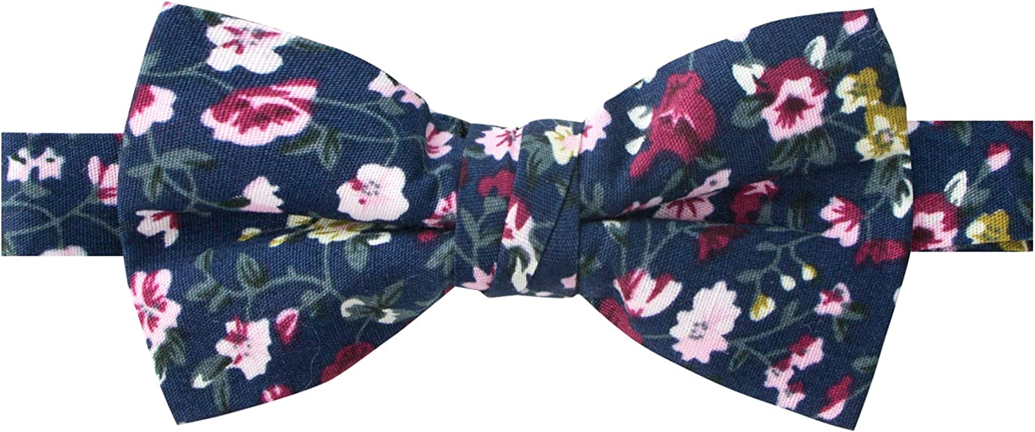 Spring Notion Boys' Cotton Floral Bow Tie