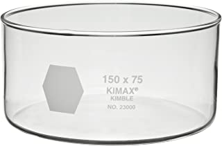 Kimble 23000-8040 Glass 170mL Crystallizing Dish, 80mm Diameter x 40mm Height (Pack of 6)