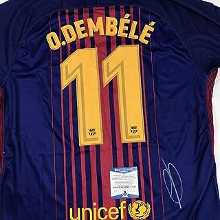 2798623dd44 Autographed Signed Ousmane Dembele FC Barcelona Blue Soccer Jersey Beckett  BAS COA Auto  2