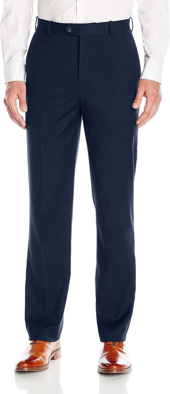 Adolfo Men's Micro Tech Flat Front Suit Pant